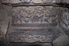 Carvings in one of the temples in Khajuraho Stock Image