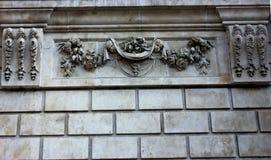 Carvings på fasad av domkyrkan för Saint Paul ` s, London Arkivfoton