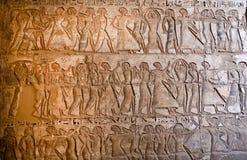 Carvings på Medinet Habu royaltyfri bild