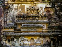 Carvings in Polonnaruwa. Carvings on Polonnaruwa ruins. UNESCO World Heritage Site Royalty Free Stock Image
