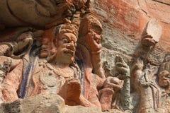 Carvings rochosos de Dazu imagens de stock royalty free