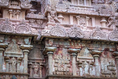 Sandstone carving in ancient Hindu temple Stock Photos