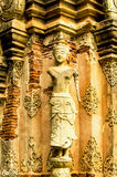 The carvings & sculptures of the ancient thai temples Royalty Free Stock Photography