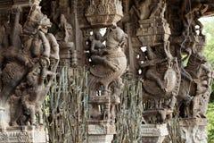 Carvings Stein des hinduistischen Tempels Lizenzfreies Stockfoto