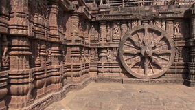 Carvings in Sun temple, Konark, India. World heritage, UNESCO stock video footage