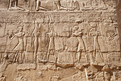 Carvings at the temple of Karnak Royalty Free Stock Photo