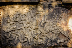 Carvings in the Venus Platform at Ancient Maya Ruins of Chichen Itza - Yucatan, Mexico Stock Images
