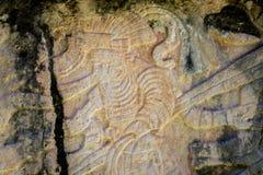 Carvings in Venus Platform bei alter Maya Ruins von Chichen Itza - Yucatan, Mexiko Lizenzfreie Stockfotos