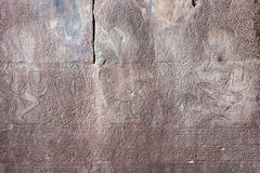 Carvings on the wall of Angkor Wat Temple. Siem Reap, Cambodia stock photo
