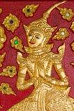 Carvings Of Women. At Wat Suandok,Chiangmai ,Thailand Stock Image