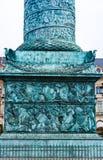 Carvins στη βάση της στήλης Vendome στο Παρίσι Στοκ Εικόνες