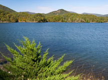 Carvins-Bucht-Reservoir, Roanoke, Virginia, USA lizenzfreies stockbild