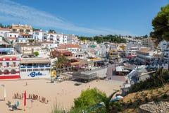 Carvoeiro,葡萄牙一个普遍的旅游目的地 图库摄影