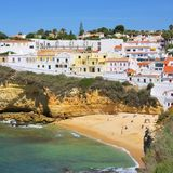 Carvoeiro beach Stock Photography