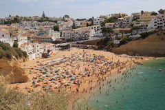 Carvoeiro beach, Portugal. Royalty Free Stock Images