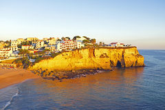 Carvoeiro i Algarven Portugal Royaltyfria Bilder