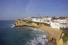 Carvoeiro In The Algarve In Portugal Stock Photos