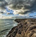Carvoeiro. Lighthouse of Carvoeiro Cape, Peniche, Portugal Royalty Free Stock Photo