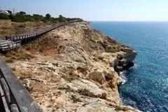 Carvoeiro Promenade/Portugal stockfotografie