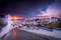 Carvoeiro small town on the Portuguese coast Royalty Free Stock Images