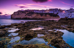 Carvoeiro small town on the Portuguese coast Royalty Free Stock Photography