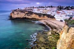 Carvoeiro small town on the Portuguese coast Stock Photos