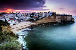 Carvoeiro small town on the Portuguese coast Stock Photography
