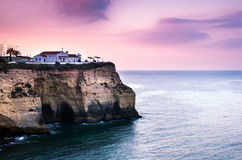 Carvoeiro small town on the Portuguese coast Royalty Free Stock Image