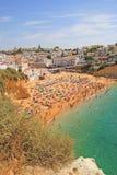 Carvoeiro strand, Portugal Royaltyfri Fotografi