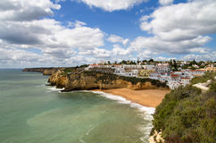 Carvoeiro village and beach at Algarve Stock Photo