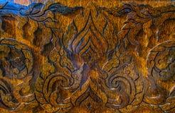 Carvs di legno dello zucchero di palma - Tailandia Immagini Stock