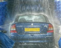 In Carwash Stock Foto's