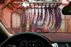 Carwash através de uma janela Fotos de Stock Royalty Free