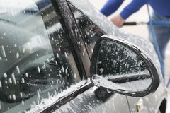 Contactless carwash with active foams. Stock Images