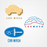 Carwash, car wash set of vector logo, icon, symbol, emblem Stock Photography
