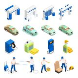 Carwash Icons Set vector illustration