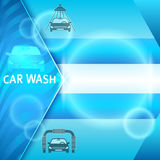 Carwash-layout-banner-presentation-washing-car Royalty Free Stock Photos