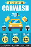 Carwash poster Royalty Free Stock Image
