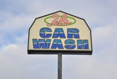 Carwash sign Royalty Free Stock Image