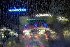 Carwash a través de una ventana Foto de archivo