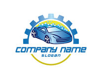 Carwash vector logo royalty free illustration