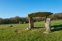 Carwynnen Quoit. An ancient neolithic dolmen near Camborne in Cornwall Stock Photos