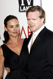 Cary Elwes, Lisa Marie Kurbikoff, Morgan Freeman Photographie stock