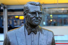 Cary Grant Bronze Statue Stock Photos