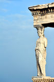 Caryatid at Acropolis of Athens Stock Photos