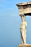 Caryatid at Acropolis of Athens Stock Photos