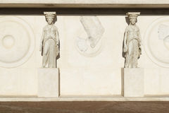 Caryatid in archaeological museum Royalty Free Stock Photo