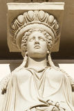 Caryatid in archaeological museum Stock Photography