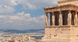 A Caryatid. Athens, Greece. Royalty Free Stock Photo