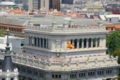 Caryatid Building, Madrid, Spain Stock Images